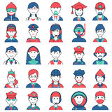People icon for different professional Royalty Free Stock Photo