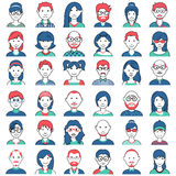 People icon of different Social Groups Royalty Free Stock Images