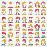 People icon of different Social Groups Royalty Free Stock Photography