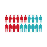 People icon, flat style Stock Photography