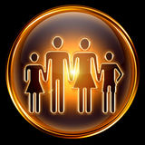 People icon golden Stock Image