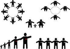 People Icon Group. Team work bussiness People Icon Group Stock Photos
