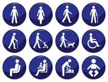 People icon set. Signage type people icon set each individually layered Royalty Free Illustration