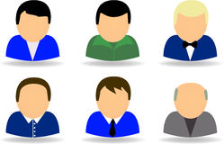 People icon set Royalty Free Stock Images