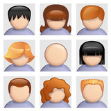 People icons set. Set of avatars and user icons Royalty Free Stock Photos