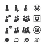 People icon set. Business people icon set background vector illustration