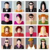People icon set Stock Photos