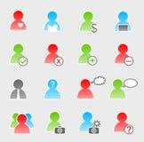 People icon set Royalty Free Stock Photos