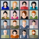 People icon set Royalty Free Stock Photo