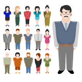 People icon set. Icons set of different people in trendy flat style. Vector illustration,  on white background Royalty Free Stock Photos