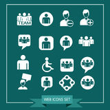 People icon set Illustration Stock Photography