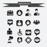 People icon set Illustration Stock Image