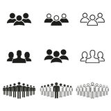 People icon set. People vector icons set. Black illustration isolated on white background for graphic and web design Royalty Free Illustration