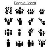 People icon set. Vector illustration graphic design royalty free illustration