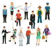 People, icon set vector Royalty Free Stock Photos