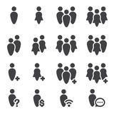 People icon set Stock Image
