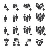 People icon set Royalty Free Stock Photography
