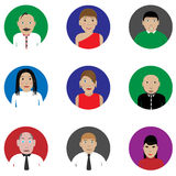 People icon set Stock Photography