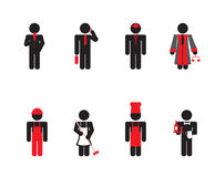 People - icon set Stock Image