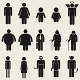 People icon sign symbol pictogram Stock Photos