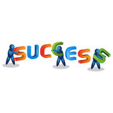 People Icon and  success. illustration in vector format Royalty Free Stock Photography