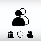 People icon, vector illustration. Flat design style Royalty Free Stock Images
