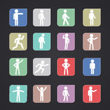 People icon. Is vector People icon set Stock Images