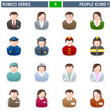 People Icons [1] - Robico Series. Collection of 16 colorful people icons, isolated on white background. Robico Series: check my portfolio for the complete set Royalty Free Stock Photos