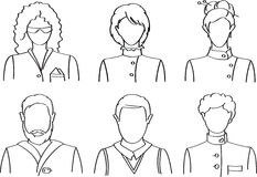 People icons. Vector people icons set (avatars Stock Photo