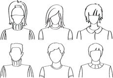 People icons. Vector people icons set (avatars Stock Photography