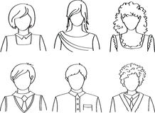 People icons. Vector people icons set (avatars royalty free illustration