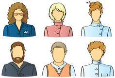 People icons. Vector people icons set (avatars vector illustration