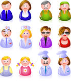 People Icons. 12 people icons: clerks, laborers, doctors, glamorous couple, children, and cooks! EPS 8 vector illustration