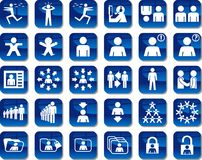 People Icons. Some icons about people and common activities Stock Image