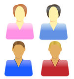 People icons. Different icons of the people Stock Image