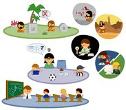 People icons. Set of icons with people Stock Image