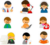 People icons. Set of funny vector people icons Stock Photo