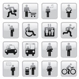 People icons. Web Icons -- for your website, powerpoint, leaflet etc Royalty Free Stock Photos
