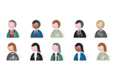 People Icons. There are ten various people icons Royalty Free Illustration