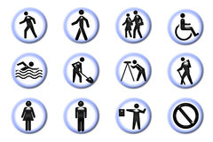 People Icons. On white background pins Royalty Free Stock Image