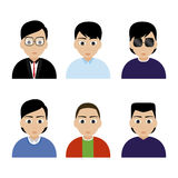 People icons. Abstract people icons on a white background stock illustration