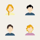 People icons. Abstract people icons on a white background royalty free illustration