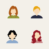 People icons. Abstract people icons on a white background vector illustration