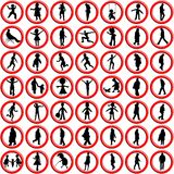 People icons against white Stock Images