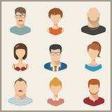 People icons, avatars, flat style Stock Photos