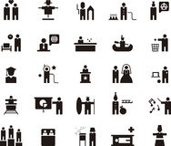 People icons in black and white Stock Photo