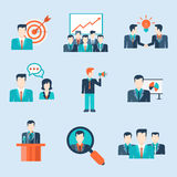 People icons business man situations web template Stock Photos