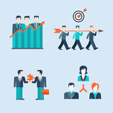People icons business man situations web template. Flat style modern people icons business man situations web template infographic vector icon set. Women Royalty Free Stock Image