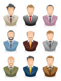 People Icons Businessman. Vector illustration of a business people icons set Stock Image