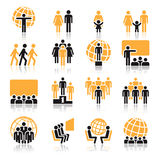People, icons Stock Image